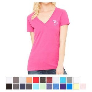 Bella+Canvas ® Women's Jersey Short Sleeve Deep V-Neck Tee
